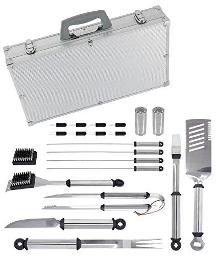 Uniflame 21 Piece Silver Prestige Stainless Steel Tool Set [Set of 4] (Uniflame Stainless Steel Grill)