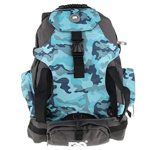 DYNWAVE Inline Roller Skate Bag Backpack, Ice Skating Shoes Boots Helmet Storage Pouch Carrier Tote with Adjutable Shoulder Strap - Blue - Ice Skating Backpack Skate