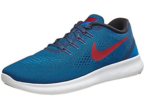 Nike Mens Free Running Shoes (10.5, Squadron Blue/Gym Red/Blue Spark/Black) (Nike Flex Run Mens Shoes)
