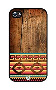 iZERCASE Aztec on wood pattern iphone 4 case - Fits iphone 4 & iphone 4s