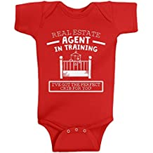 Threadrock Baby Girls' Real Estate Agent In Training Infant Bodysuit