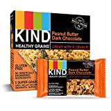 KIND Healthy Grains Bars, Peanut Butter Dark Chocolate, Gluten Free, 1.2 oz, 5 Count (6 Pack)