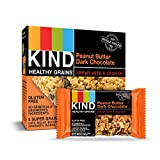 KIND Healthy Grains Granola Bars, Peanut Butter Dark Chocolate, Gluten Free, 1.2 oz, 30 Count