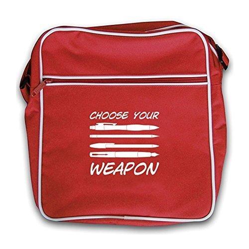 Your Choose Flight Bag Weapon Red Dressdown Retro Pens PBa8q