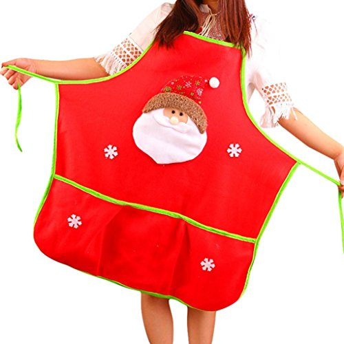 Maid Costume Maid My Day (Iuhan Xmas Santa Claus Snowman Kitchen Bib Aprons Costume Apron Funny (A))