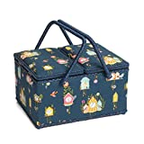 Hobby Gift HGTL/246   Cuckoos Calling Large Twin Lid Sewing Basket 24x31½x19½cm by Hobbygift