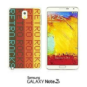 LJF phone case OnlineBestDigital - Typography Pattern Hard Back Case for Samsung Galaxy Note 3 N9000 - Retro Rocks