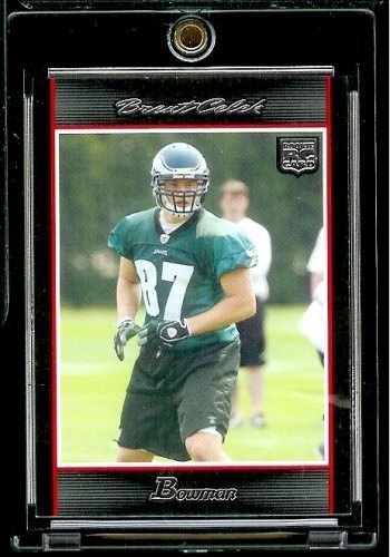 2007 Bowman # 260 Brent Celek (RC) - Philadelphia Eagles - NFL Trading Football Rookie Card