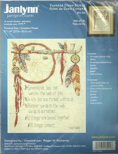 Web Of Life Counted Cross Stitch by Roger W. Reinardy (Cross Stitch Seattle)