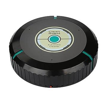 Robot aspirador inteligente de GussPower automático para pelo de mascotas, alérgicos, limpieza diaria, gran tecnología y poder de succión Negro