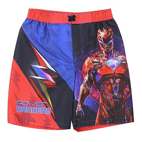 Marvel Big Boys' Spiderman Swim Trunk, Red, 5/6