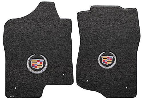 Lloyd Mats 2 Piece Velourtex Ebony Carpet Floor Mats w/Cadillac Logo for Cadillac Escalade EXT (2007-2014)