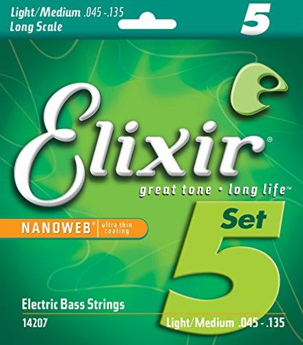 Elixir Strings Nickel Plated Steel 5-String Bass Strings w N
