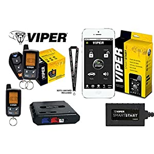 Viper Model 5305V 2-way Car Alarm & Remote Start System with 7345V 2-way LCD remote, Bypass Module and Viper VSM200 SmartStart