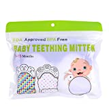 Teething Mitten, Hmane 1 Pair/2pcs Baby Ice Silk Self-Soothing Teether Gum Pain Relife Cool Crawls Molar Protective Glove for Toddlers FDA Approved - (Purple)