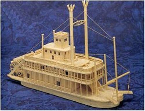 MISSISSIPPI RIVERBOAT - Matchmaker Matchstick Model Craft Construction Kit - Mississippi Riverboat