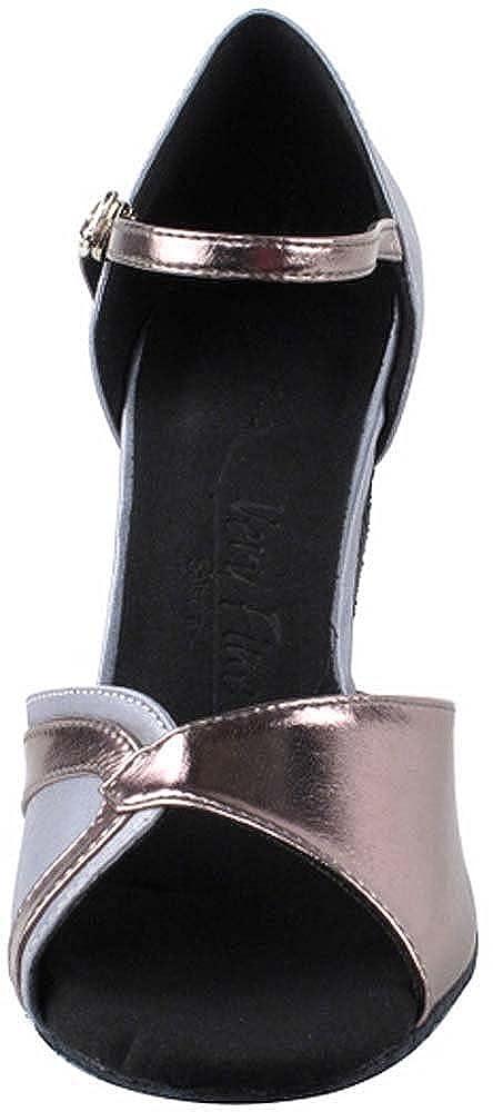 Womens Ballroom Dance Shoes Tango Wedding Salsa Dance Shoes Grey Satin /& Pewter Trim Sera3710EB Comfortable Bundle of 5 Very Fine 3 Heel 7 M US
