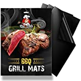 Cheap BBQ Grill Mat Set – 3 Black Grilling Mats with non-stick & non-toxic coating – work on charcoal, electric, gas, propane grill