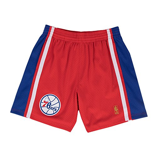 (Mitchell & Ness Philadelphia 76ers Red Swingman Shorts (XX-Large))