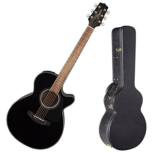(Takamine G Series GF30CE Cutaway Acoustic Guitar Gloss Black w/ Hard Case)