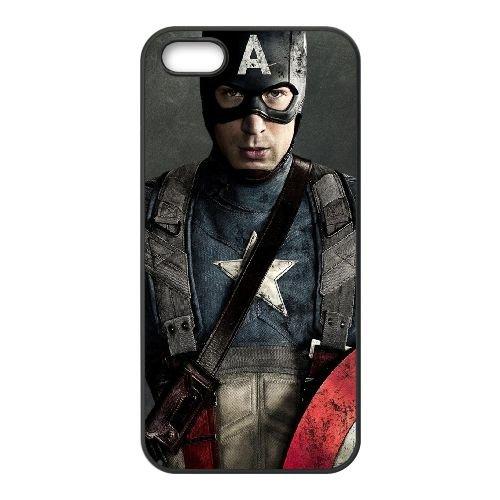 901 Captain America L coque iPhone 5 5S cellulaire cas coque de téléphone cas téléphone cellulaire noir couvercle EOKXLLNCD21092