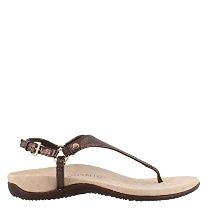 9ca1b6c65e1a07 Vionic Womens Kirra Leather Orthotic Arch Support Sandals Brown ...