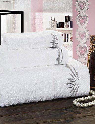 QUEENS Tejido de algodón blanco puro juego de toallas de baño. Lavar la toalla+