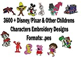 3600+ Children Characters Embroidery Machine