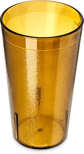 Carlisle 5212-8113 Stackable Shatter-Resistant Plastic Tumbler, 12 oz., Amber (Pack of 6) (Amber Stackable)