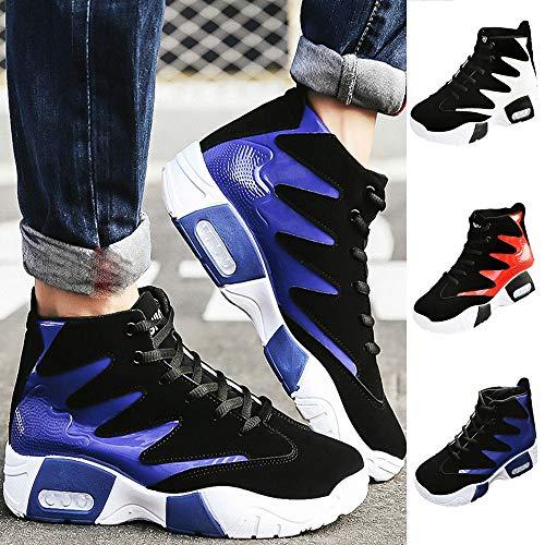 Sportive slip Ginnastica Da Oyedens Sports Stringate Mountaineering Uomo Shoes Sneakers Outdoor Corsa Casual Antiscivolo Blu Non Scarpe Multisport t4xqB