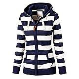 Search : FUDITAI Women's Casual Lightweight Sweatshirts Long Sleeve Zipper Striped Hoodies