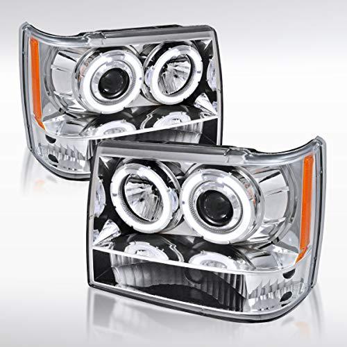 Autozensation For Jeep Grand Cherokee Halo Projector Chrome Headlights