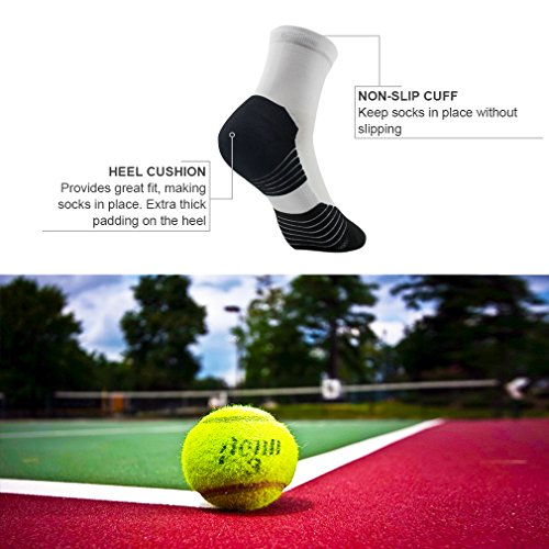 NIcool Running Tennis Socks for Men&Women Athletic Outdoor Colorful Ankle Socks,1-4 Pairs