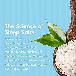 Organic Lavender Essential Oil Epsom and Dead Sea Bath Salts - Sleep Formula - 64 Ounce Jar