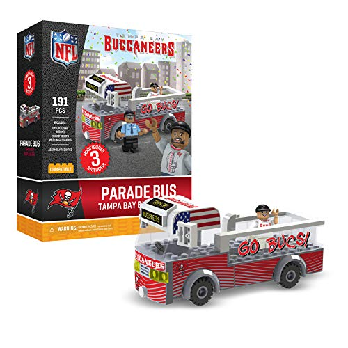 (Tampa Bay Buccaneers OYO Sports Toys Parade Bus Set with 3 Minifigure 191PCS)