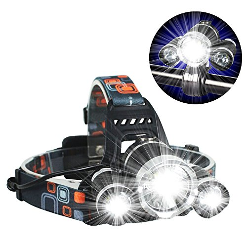 3t6 Flashlight - Novapolt Headlight Super Bright Black LED Headlamp CREE 3T6 Work Light Flashlight - with 4 Mode Torch for Nighttime Indoor and Outdoor Activities Such As Camping, Hunting, Fishing, Hiking etc