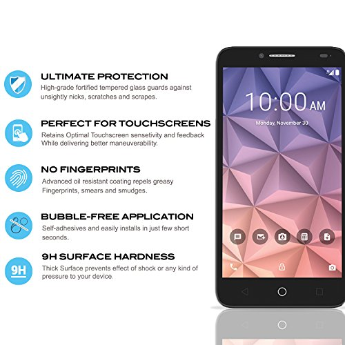chic For Alcatel Raven A574BL Screen Protector Tempered