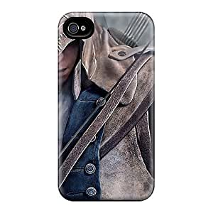 QyK390PfjU Case Cover, Fashionable Iphone 4/4s Case - Assassins Creed Iii 2012