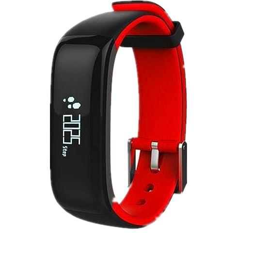 Pulsera Inteligente,P1,Fitness Tracker con Pulsómetros,Cronómetro,GPS para Running,Monitor de Ritmo Cardiac,Notificación de Mensajes,Impermeable IP67 ...