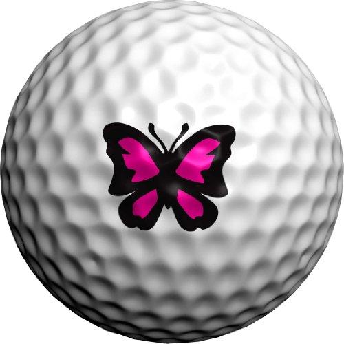 Golfdotz Majestic Butterfly (Pink & Black)