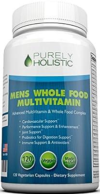 Multivitamin for Men, Daily Supplement 120 Capsules - Whole Food Multivitamin, Mens Multivitamin Organic, Vitamins, Minerals, Probiotics, Zinc, Selenium, Spirulina, Calcium, Turmeric, Magnesium
