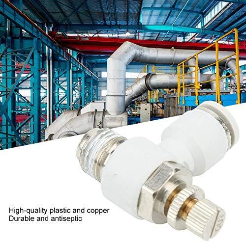 50pcs Air Flow Valve Adjustment Pipe Pneumatic Connector 8mm x 1/4in Pneumatic Regulator Valve Fitting