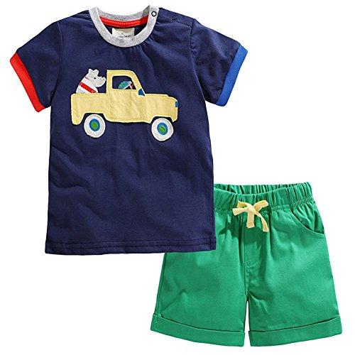Cars Short Set - Toddler Boys Vehicle Car Transportation Tee and Shorts Set 4t
