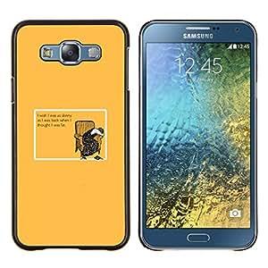 EJOOY---Cubierta de la caja de protección para la piel dura ** Samsung Galaxy E7 E700 ** --Cerdo lindo grasa
