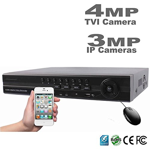 Hdview 12Ch 4 In 1 Security 1080P Hd Dvr Nvr  8 Channel  Tvi Ahd 960H  Cameras And 4 Channel Onvif Ip Cameras  Surge Protection Coc Commercial Grade  No Hdd Installed  Support 3Mp  4Mp Tvi Cameras