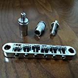 Chrome Guitar Roller Saddle Tune-O-Matic Bridge Fit For Les Paul SG Dot Bigsby Guitar M8 Threaded Posts