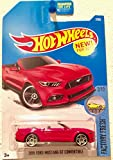 Hot Wheels 2017 Factory Fresh 2015 Ford Mustang GT Convertible 7 365 - Red