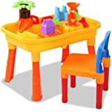 Keezi Kids Table & Chair Sandpit Set