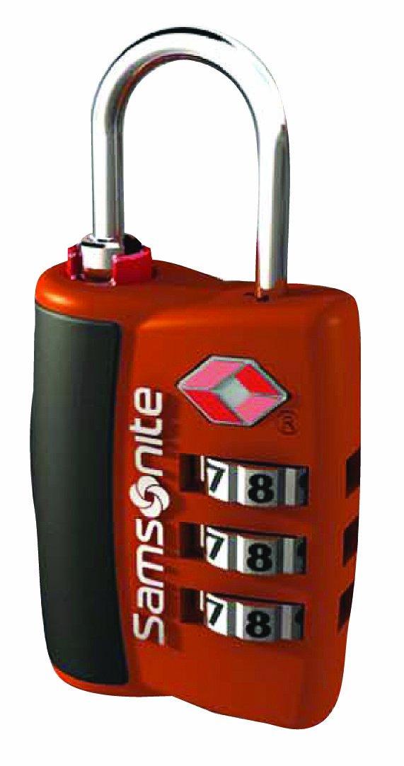 Samsonite Luggage 3 Dial Travel Sentry Combo Lock, Juicy Orange, One Size