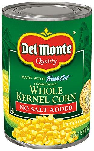 Del Monte Canned No Salt Added Golden Sweet Whole Kernel Corn, -